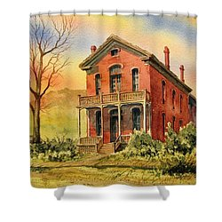 Courthouse Bannack Ghost Town Montana Shower Curtain by Kevin Heaney