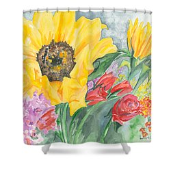 Courtney's Sunflower Shower Curtain by Kimberly Lavelle