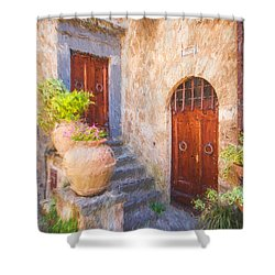 Courtyard Of Tuscany Shower Curtain