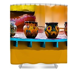 Courtyards Of Taos Shower Curtain