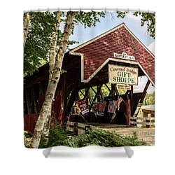 Covered Bridge Gift Shoppe Shower Curtain by Sherman Perry