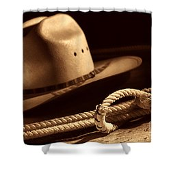 Cowboy Hat And Lasso Shower Curtain