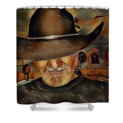 Cowboy Shower Curtain by Robert Smith