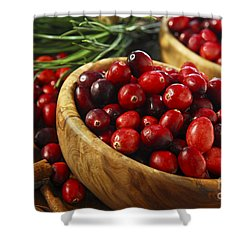 Cranberries In Bowls Shower Curtain by Elena Elisseeva