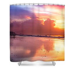 Crescent Beach September Morning Shower Curtain by David Smith