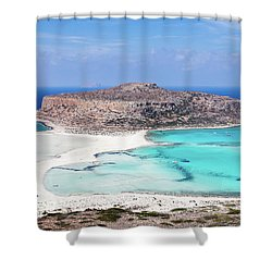 Crete Shower Curtain by Evgeni Dinev
