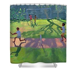 Cricket Sri Lanka Shower Curtain by Andrew Macara