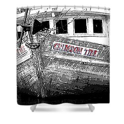 Crimson Tide Shower Curtain