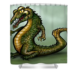 Crocodile Shower Curtain by Kevin Middleton