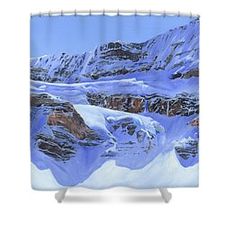 Crowfoot Glacier Shower Curtain by Glen Frear