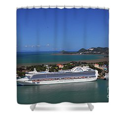 Shower Curtain featuring the photograph Cruise Port by Gary Wonning