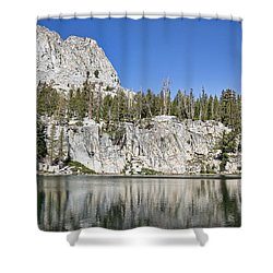 Crystal Crag Shower Curtain by Kelley King