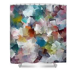 Crystal Cube Shower Curtain