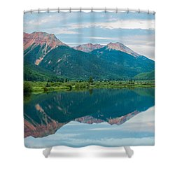 Shower Curtain featuring the photograph Crystal Lake by Jay Stockhaus