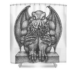 Cthulhu Idol Shower Curtain