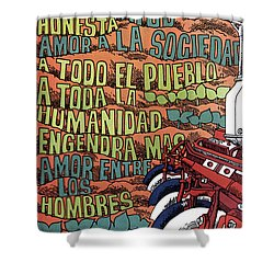 Cuban Poster, 1960s Shower Curtain by Granger