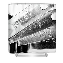 1 Cup Measure And Siblings. Shower Curtain