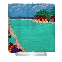 Curacao Lagoon Shower Curtain
