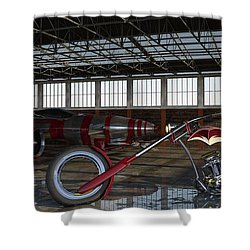 Shower Curtain featuring the photograph Custom Chopper  by Louis Ferreira