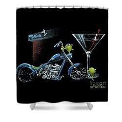Custom Martini Shower Curtain