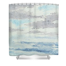 Dagrar Over Salenfjallen- Shifting Daylight Over Distant Horizon 9 Of 10_0029 Shower Curtain