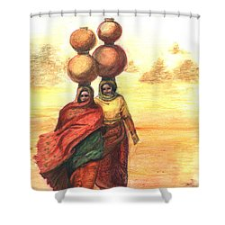 Daily Desert Dance  Shower Curtain