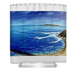 Dana Point 1950s Shower Curtain