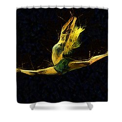 Trance Dance Shower Curtain by Sir Josef - Social Critic -  Maha Art