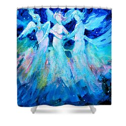 Dancing Angels Shower Curtain by Diane Ursin