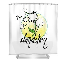 Shower Curtain featuring the drawing Dandelion by Cindy Garber Iverson