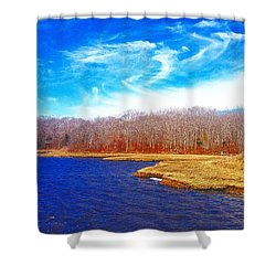 Dartmouth Trails  Shower Curtain