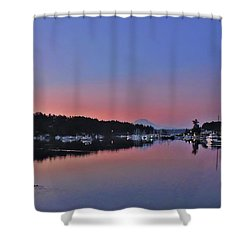 Dawn At Gig Harbor Shower Curtain by Jack Moskovita