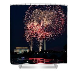 Dc 4th Of July Shower Curtain