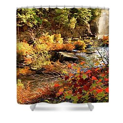 Dead River Falls  Marquette Michigan Shower Curtain