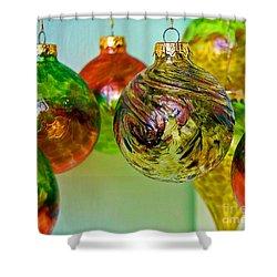Deck The Halls Shower Curtain by Debbi Granruth