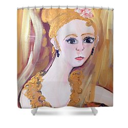 Deep In Thought  Shower Curtain by Judith Desrosiers