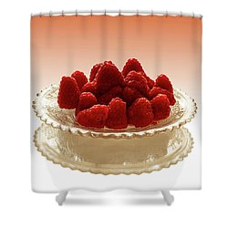 Delicious Raspberries Shower Curtain
