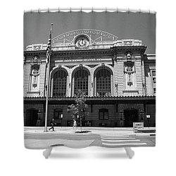 Denver - Union Station Film Shower Curtain by Frank Romeo