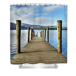 Derwent Water Pier Shower Curtain