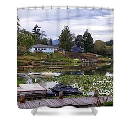 Devils Lake Oregon Shower Curtain