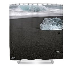 Diamonds Floating In Beaches, Iceland Shower Curtain