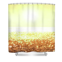 Rose Gold Diamonds Shower Curtain by Michael Rock