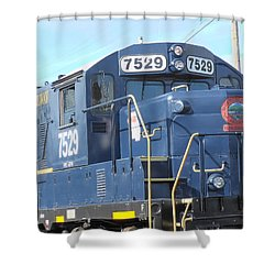 Diesel Engline Train Shower Curtain
