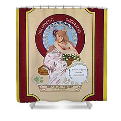 Digital Mucha Shower Curtain