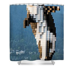 Digital Orca Shower Curtain