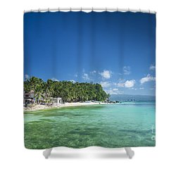 Diniwid Beach In Tropical Paradise Boracay Philippines Shower Curtain