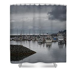 Discovery Harbour Shower Curtain by Randy Hall