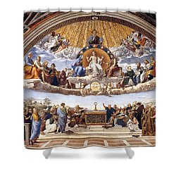 Disputation Of The Eucharist Shower Curtain