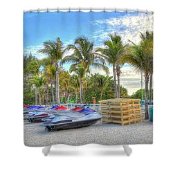 Docs Beach House Shower Curtain by Sean Allen