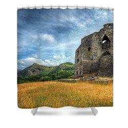 Dolbadarn Castle Shower Curtain by Adrian Evans